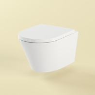 Biore rimless wall-hung toilet