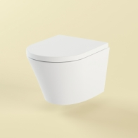 Biore compacto rimless wall-hung toilet