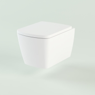 Aveo Rimless wall-hung toilet