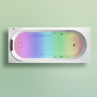 Bristol Acrylic hydro-aero massage bathtub with chromotherapy