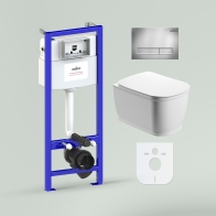 RelFix Bell Pro Rimless Set 6 in 1 for wall-hung toilet