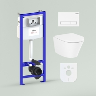 RelFix Biore Rimless Set 6 in 1 for wall-hung toilet