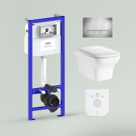 RelFix Bristol Rimless Set 6 in 1 for wall-hung toilet