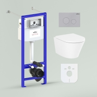 RelFix Biore Compacto Rimless Set 6 in 1 for wall-hung toilet