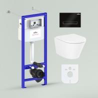 Комплект для подвесного унитаза 6 в 1 Relfix Biore Compacto Rimless