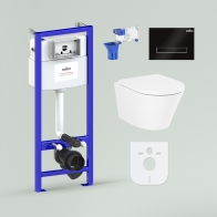 RelFix Biore Compacto Rimless Set 7 in 1 for wall-hung toilet