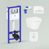 RelFix Biore Rimless Set 7 in 1 for wall-hung toilet