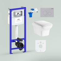 RelFix Bristol Rimless Set 7 in 1 for wall-hung toilet
