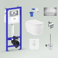 RelFix Bell Pro Rimless Set 9 in 1 for wall-hung toilet