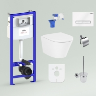 RelFix Biore Compacto Rimless Set 9 in 1 for wall-hung toilet