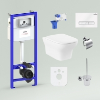 RelFix Bristol Rimless Compacto Set 9 in 1 for wall-hung toilet
