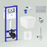 RelFix Aveo Rimless Set 9 in 1 for wall-hung toilet