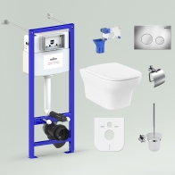 RelFix Bristol Rimless Set 9 in 1 for wall-hung toilet