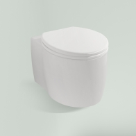 Elegant wall-hung toilet